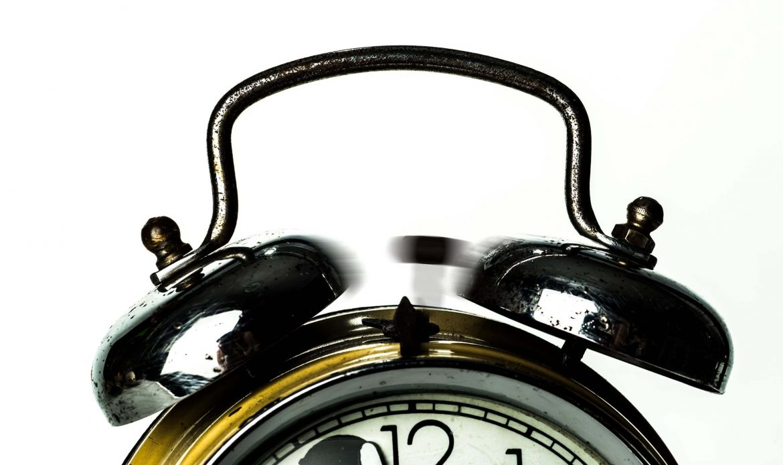 Top of a ringing alarm clock