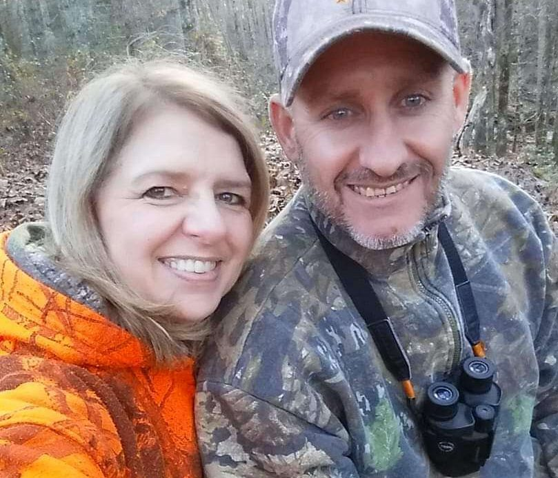 Human Resources worker Michele Main with her Husband