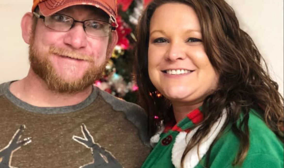 Roane Transportation's head of the parts room, Jesse Nelson, and his wife Ashley who works for partner company Roane Metals.